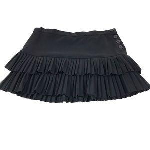BCBG Accordian Layered Pleat Mini Skirt Sz. 10